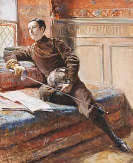 ABRY Léon Eugène Auguste - ESCRIMEUR SUR UN SOFA