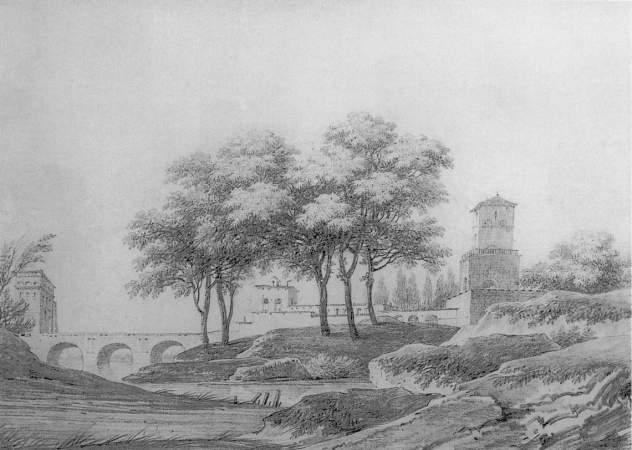 Alphonse MANDEVARE - PAYSAGE ROMAIN