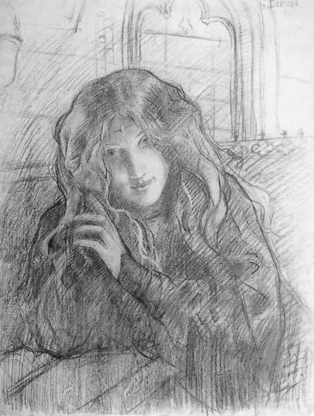 Gustave BRISGAND - JEUNE FILLE