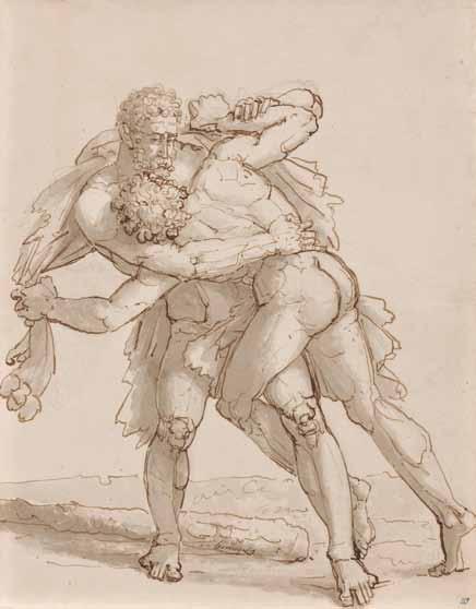 HENNEQUIN Philippe Auguste - LE COMBAT D'HERCULE