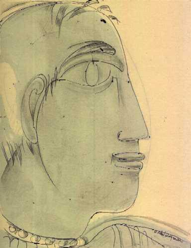 Henry de WAROQUIER - Profil d'une jeune femme