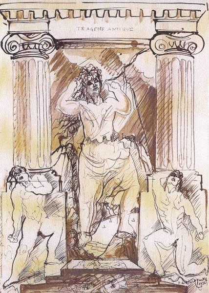 Henry de WAROQUIER - Tragédie antique