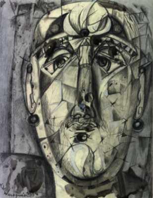 Henry de WAROQUIER - Visage de femme aux boucles d'oreilles