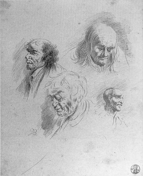 Jean-Jacques de BOISSIEU - ETUDE DE TETES