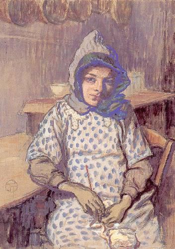 Lucien OTT - Portrait de la fille de l'artiste