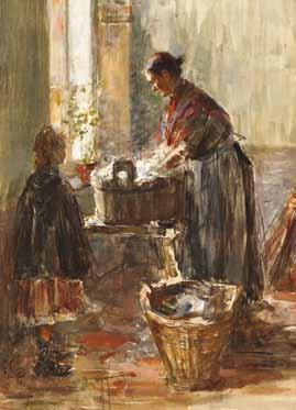 PARIS Edouard - FEMME LAVANT DU LINGE