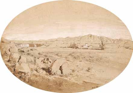 RAVIER Auguste François - VUE DES ENVIRONS DE TIVOLI