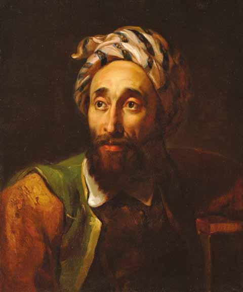 VERNET Horace - PORTRAIT D'HOMME AU TURBAN