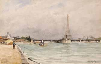 ZUBER Henri - VUE DE PARIS