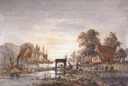 ABELS Jacobus Théodorus - PAYSAGE A LA RIVIERE