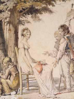 BOSIO Jean Baptiste François - FEMME ASSISE ET JEUNES GARÇONS