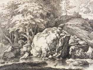 HARTMANN Johann Joseph - PAYSAGE A LA RIVIERE