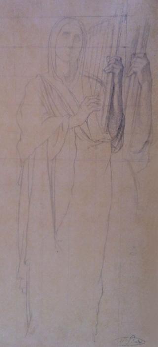 Hippolyte FLANDRIN - ÉTUDE POUR MARIA, SOEUR DE MOÏSE