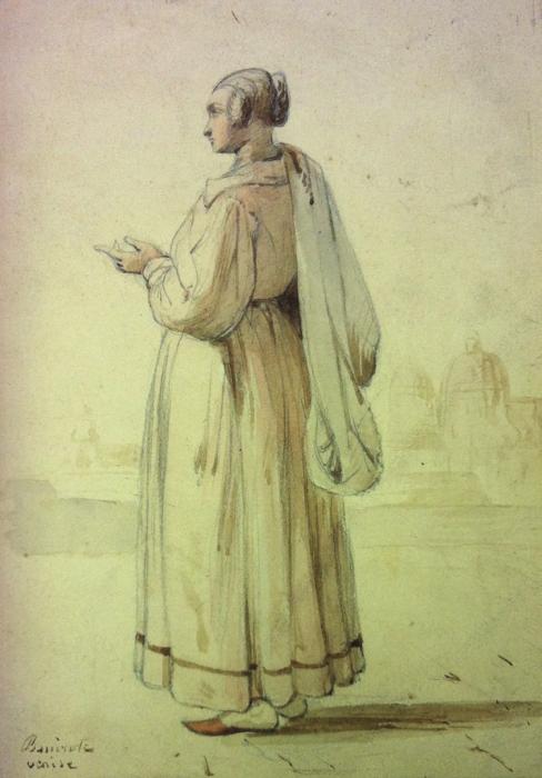 Pierre BONIROTE - FEMME VÉNITIENNE