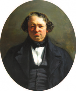 ECOLE FRANÇAISE - Portrait d'Honoré Daumier