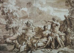 ECOLE ITALIENNE - Ariane et Bacchus