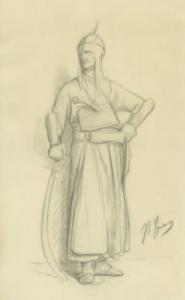 GÉRÔME Jean Léon - Guerrier turc