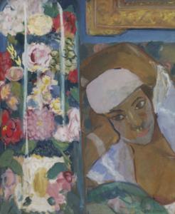 LAUNOIS Jean - Jeune fille aux fleurs