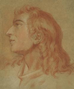 ECOLE FRANCAISE, FIN DU 17e, début du 18e siècle - TÊTE DE JEUNE HOMME