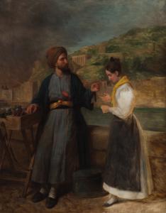 """ÉCOLE FRANÇAISE, VERS 1840 - """"LE MARCHAND D'ÉPICES"""""""