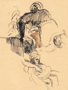 """DELACROIX Eugène - """"ÉTUDE DE PERSONNAGES"""""""