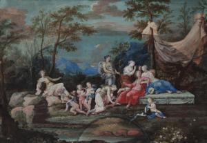ECOLE FRANCAISE, fin du 17e siècle - début du 18e siècle - DIANE ET APOLLON