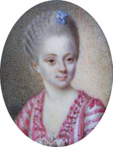 """ECOLE FRANÇAISE, 18e siècle - """"PORTRAIT DE FEMME, MINIATURE"""""""