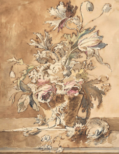 """ECOLE HOLLANDAISE, fin du 17e, début du 18e siècle - """"BOUQUET DE FLEURS"""""""
