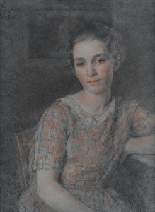 """GUIGUET François Joseph - """"JEANNE, NIÈCE DE L'ARTISTE"""""""