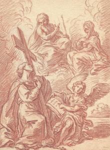 PARROCEL Etienne (Attribué à) - LE CHRIST ET LA VIERGE, UNE SAINTE ET UN ANGE