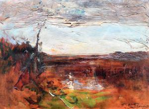 "RAVIER François Auguste - ""PAYSAGE DE MORESTEL"""