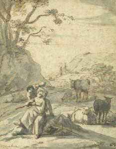 "ROOS Johann Heinrich - ""SCÈNE GRIVOISE"""