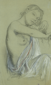 "SCOHY Jean - ""JEANNE AUX LONGS CHEVEUX, VERS 1882"""