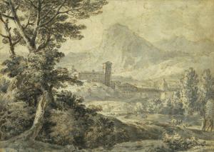 "CONSTANTIN Jean Antoine - ""PAYSAGE D'ITALIE"""