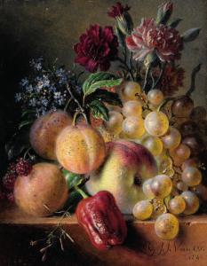 """VAN OS Georgius Jacobus Johannes - """"NATURE MORTE AUX FLEURS ET FRUITS"""""""
