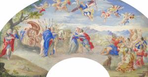 """ÉCOLE FRANÇAISE - """"MELCHISÉDECH ET ABRAHAM"""""""