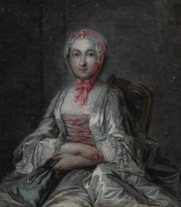 """ÉCOLE FRANÇAISE - """"PORTRAIT DE FRANÇOISE DE GRAFFIGNY (1695-1758)"""""""