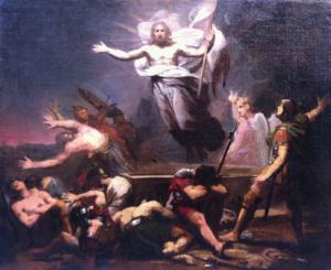 """ÉCOLE FRANÇAISE, VERS 1820 - """"LA RÉSURRECTION DU CHRIST"""""""