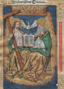 """ÉCOLE FRANÇAISE, vers 1500 - """"LA SAINTE TRINITÉ"""""""