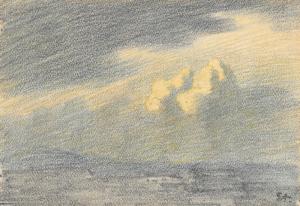 """STEINLEN Théophile Alexandre - """"ÉTUDE DE CIEL"""""""