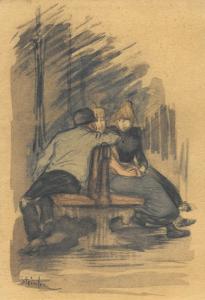 """STEINLEN Théophile Alexandre - """"LA CONVERSATION"""""""